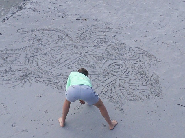 Intuitive art at the sea, using doodling by RienArts
